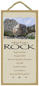 ADVICE FROM A ROCK