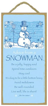 ADVICE FROM A SNOWMAN
