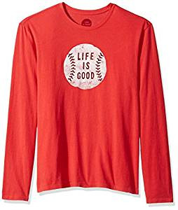 MENS L/S SMOOTH T VINTAGE BASEBALL