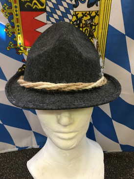 ROPE BAVARIAN HAT DARK GREY