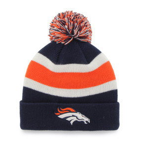 DENVER BRONCOS BREAKAWAY CUFF KNIT LT NAVY