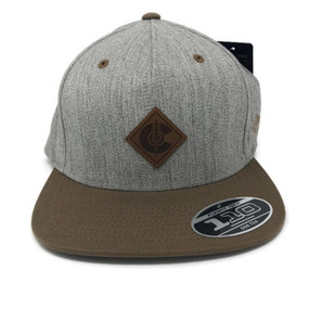 JONES LEATHER DIAMOND C STRAPBACK