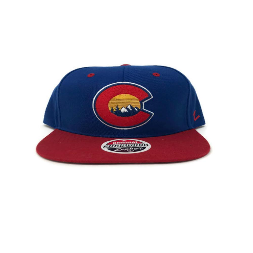 e9153e573d363 ... Colorado Ball Caps  CO FLAT BRIM FLG W MTNS. Image 1