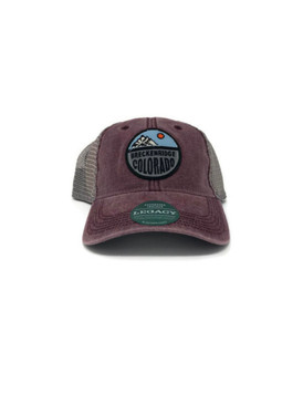DTA TRUCKER SPLIT CIRCLE BURGUNDY
