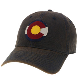 CO FLAG LOGO OFA CAP NAVY