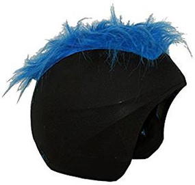 FURRY BLUE HELMET COVER