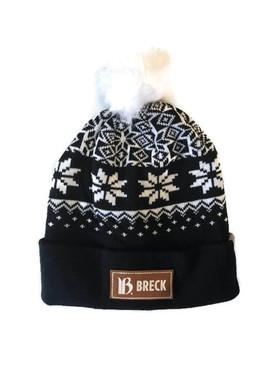 BRECK SNOWFLK FAUX POM BEANIE