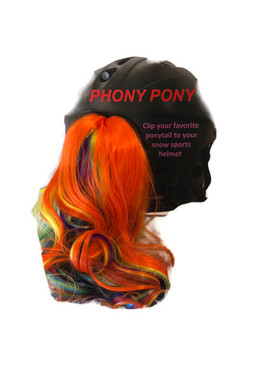 PONY HELMET ATTACHMENT RAINBOW