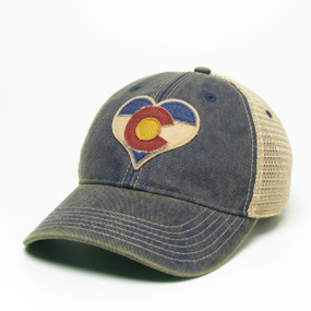 OFA TRUCKER CO HEART NAVY