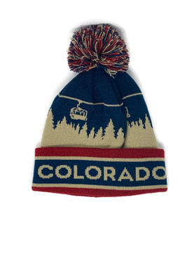 CO CHAIRLIFT POM BEANIE
