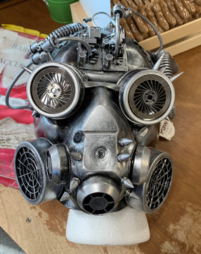 MALE STEAMPUNK SILVER MASK