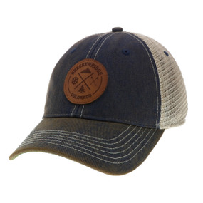 OFA TRUCKER NEW LEATH PATCH NAVY