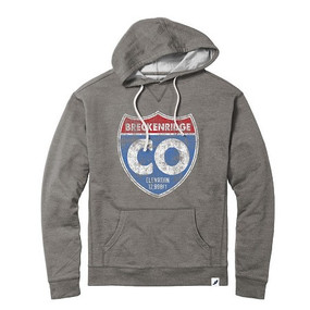 TERRY FLEECE HOODIE INTERSTATE GREY