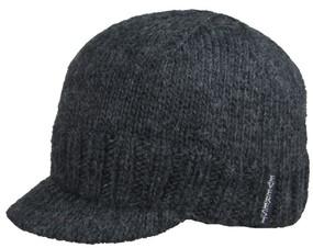 KNIT CAP VISOR CHARCOAL