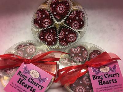 Bing Cherry Hearts, Box of 5
