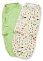 Summer Infant SwaddleMe Adjustable Infant Wrap, Woodland Friends, 2 Count Large Size