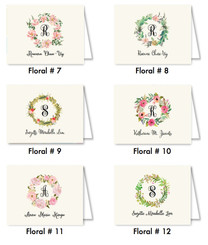 Floral Foldover Cards
