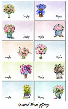 assorted rec tags - floral