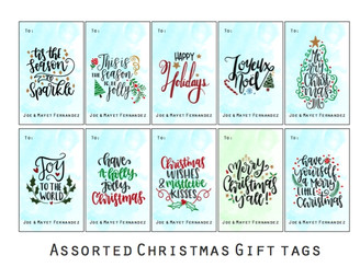 assorted rec tags - christmas