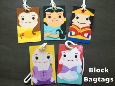 Disney Princess Block bagtags