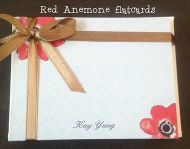 Red Anemone flatcards