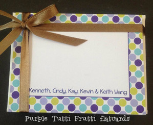 Purple Tutti Frutti flatcards