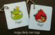 Angry Birds mini tags
