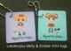 Lalaloopsy Misty & Ember mini tags
