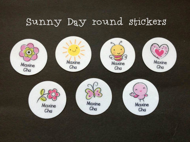 Sunny Day round stickers