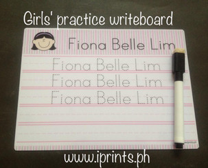 Girl's Writeboard front