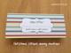 Christmas stripes money envelope