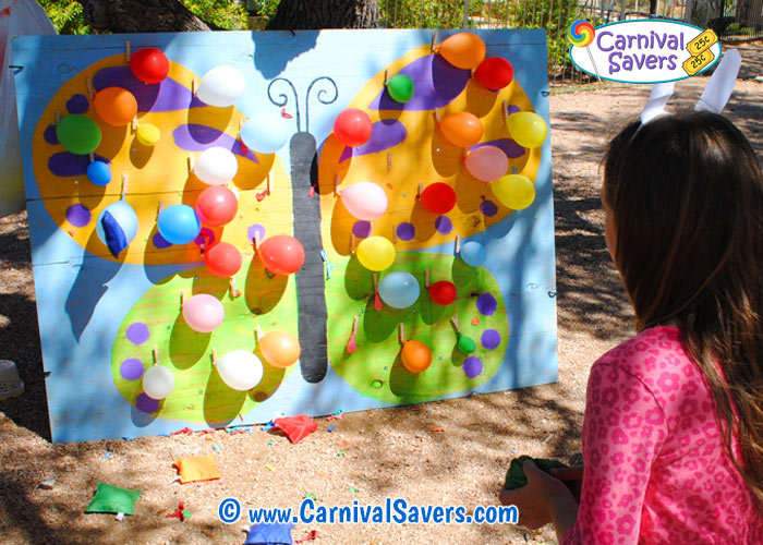 Butterfly Balloon Burst Unique Spring Carnival Game