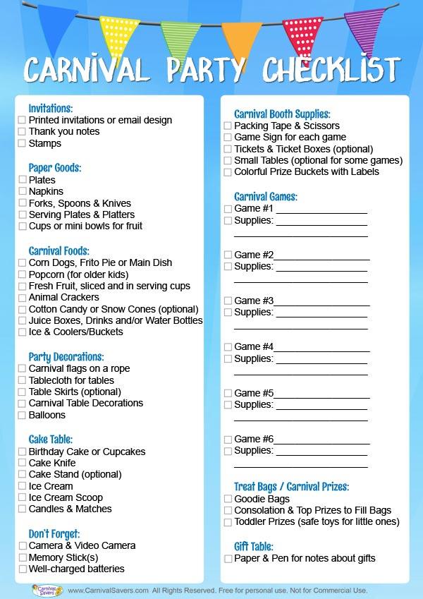 photo gift ideas for senior football - Carnival Birthday Party Checklist