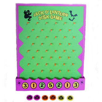 Wooden Halloween Disk Drop Game Set Ready Made