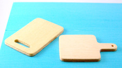 Dollhouse Miniature Wooden Cutting Boards - 1/12 scale