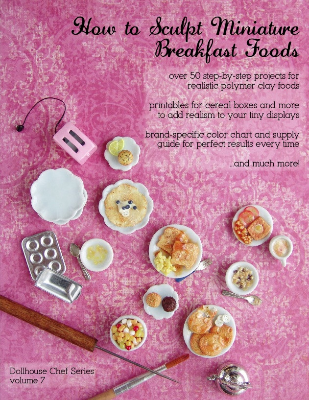 Polymer Clay Tutorial How To Sculpt Dollhouse Miniature Breakfast Foods
