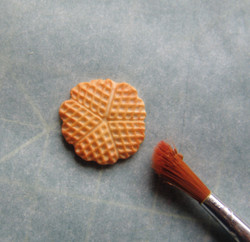 Dollhouse Food Mold Miniature Waffle Mold - 1/12 scale