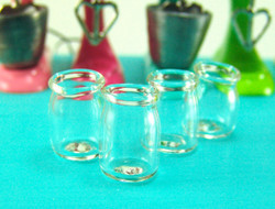 Dollhouse Miniature Jar, Real Glass - 1/12 scale