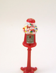 Dollhouse Miniature Gum Ball Machine - 1/12 scale