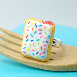 Food Ring // Miniature Pop Tart Ring // MADE TO ORDER // Adjustable Ring