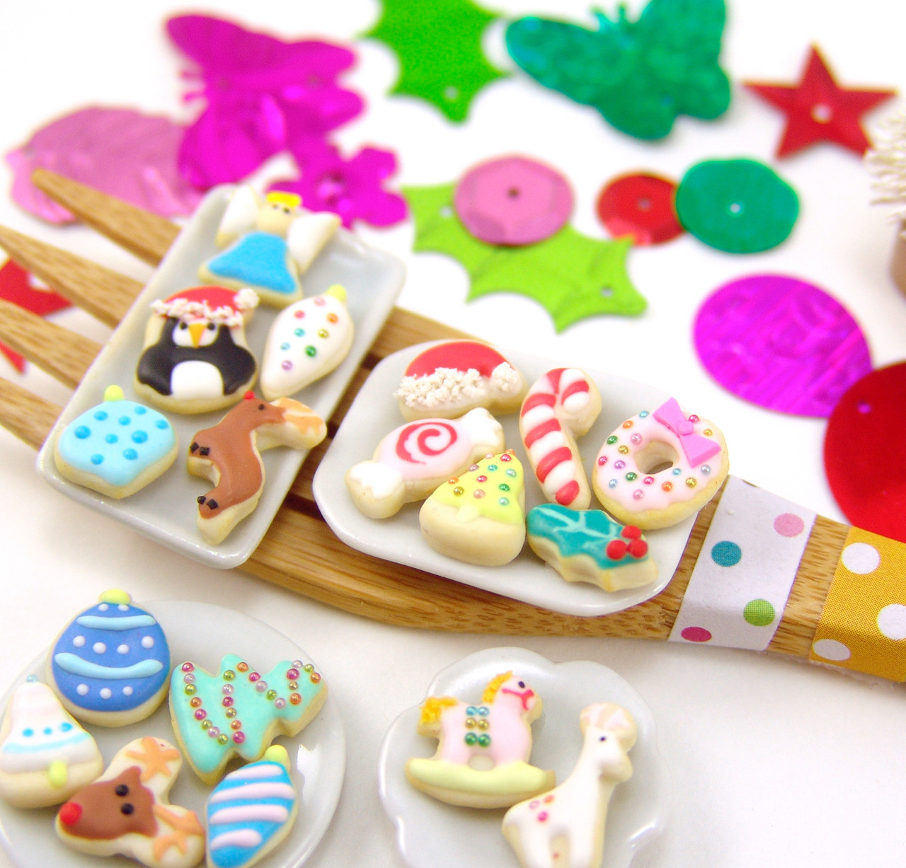 Polymer Clay Mold Flexible Silicone Dollhouse Cookie Mold Christmas Angel And Wreath For 1 12 Scale And Food Jewelry Projects
