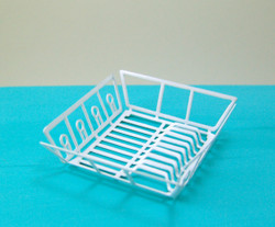 Dollhouse Miniature Dish Drainer Dryer Rack - 1/12 Scale Miniature