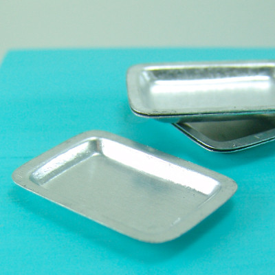 Dollhouse Miniature Silver Metal Oven Baking Tray