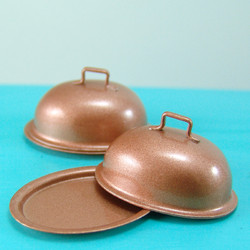 Dollhouse Miniature Roasting Pan, Copper - 1/12 scale