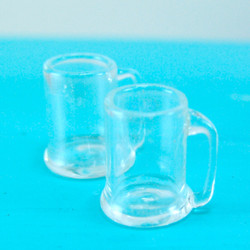 Dollhouse Miniature Beer Mug, Real Glass - 1/12 scale
