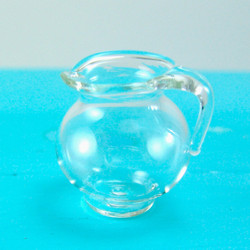 Dollhouse Miniature Pitcher, Real Glass - 1/12 scale