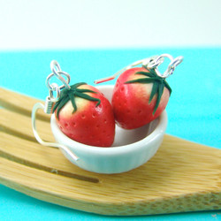Strawberry Earrings // MADE TO ORDER // Fruit Earrings