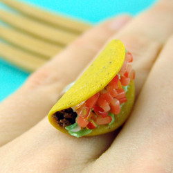 Food Ring Taco Ring // Adjustable Ring // MADE TO ORDER