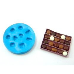 Dollhouse Miniature Chocolates // Miniature Candy Mold in 1:12 Scale // Flexible Silicone Mold