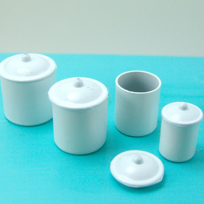 Dollhouse Kitchen Canisters Set of Four - 1/12 Scale